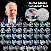 Todos os presidentes dos eua prata chapeado commermorative coin define no álbum eua desafio moeda trump biden lembrança moeda collectible presentes