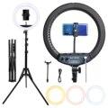 Fosoto SLP-R300 кольцевой светильник 60 Вт 300 шт . светодиодная кольцевая лампа со штативом, фотографический светильник , кольцевой светильник для к...
