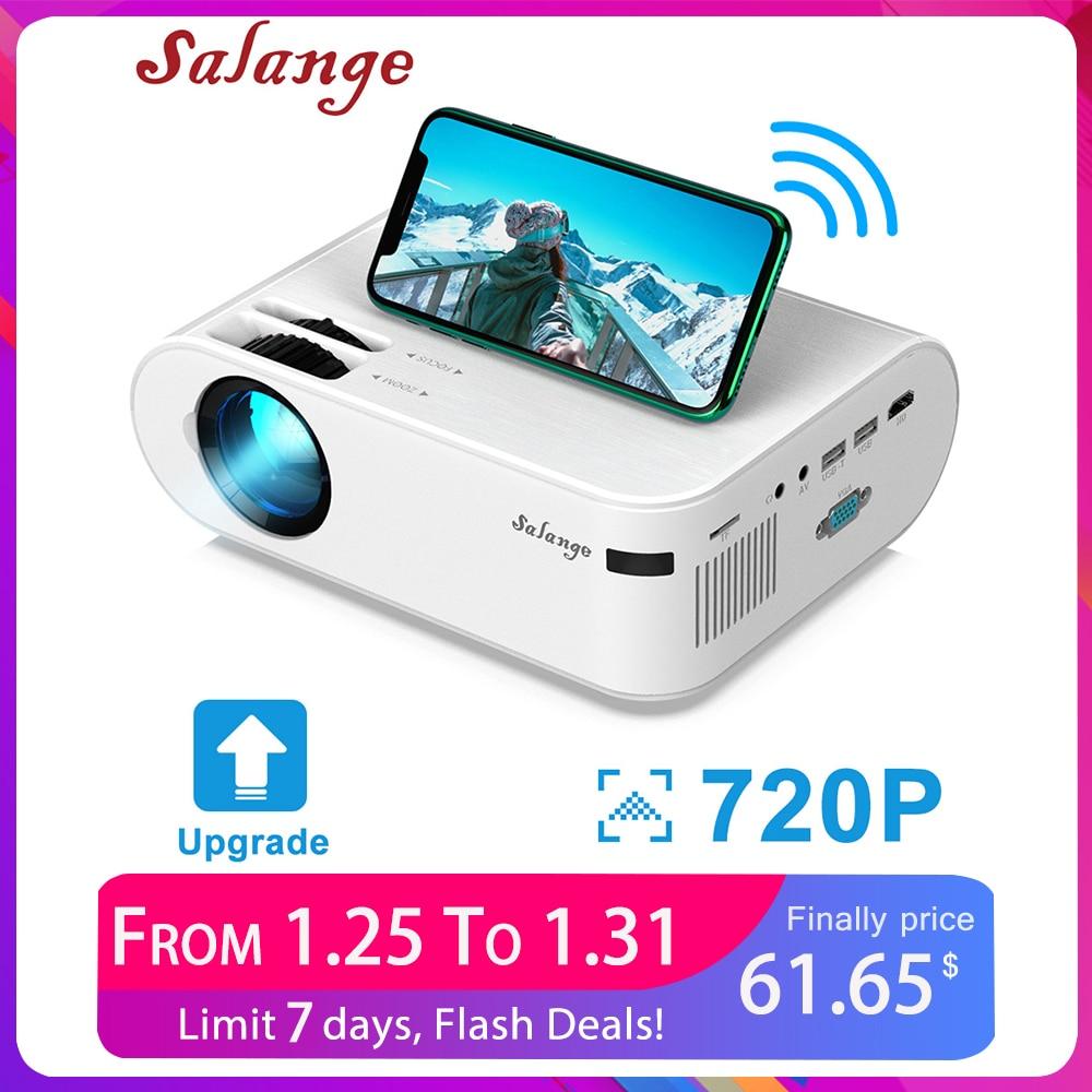 Salange p62 mini projetores 3000 lumens , 720p conduziu o projetor video do beamer para o telefone móvel que espelha o apoio completo hd 1080p android