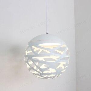 Image 2 - BLUBBLE Studio Key подвесной светильник s полый современный светильник белый светодиодный Новый Пазл Домашний Светильник для отеля