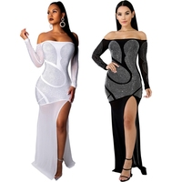 Women Sleeveless Summer Prom Maxi Dress Summer 2019 Sexy strapless Dress Elegant Bodycon Party With brick Dress Long Vestido