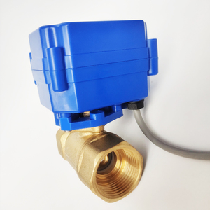 """Image 5 - 3/4"""" Brass electric ball valve, DC12V electric motorized valve with 2/3/5 Wires, DN20 electric motor vlave for HVAC"""