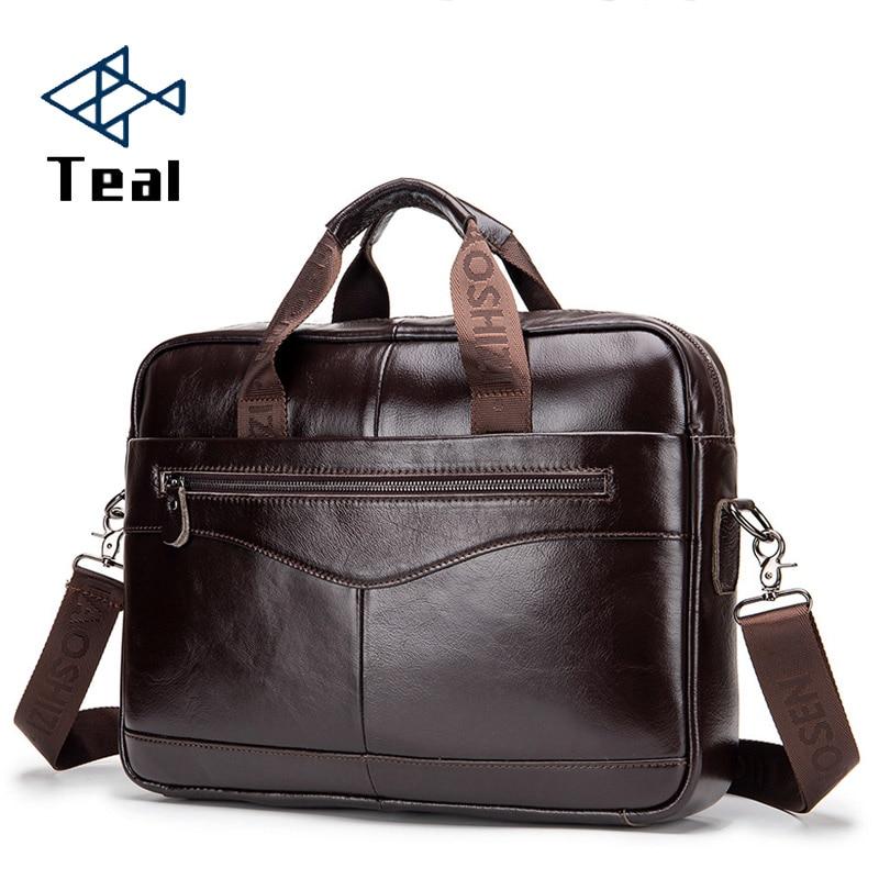 Men's Bag Briefcase Genuine Leather Business Laptop Bag For Men's Genuine Leather Bag Business Document Man Briefcase Handbag