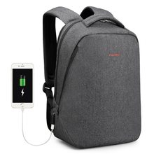 Men's Anti-Theft Laptop Backpack Oxford Cloth Business Casual Travel Bag 14.1 Inch (USB Black(China)
