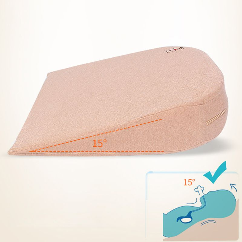 1 Pc Baby Wedge Pillow Made of Memory Foam with 10 degrees Tilt and the Thin Bottom 3