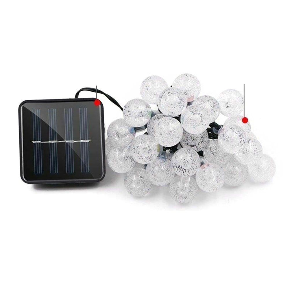 Led Bubble Light 6 Meters 30 Lamp Solar Light String Outdoor Waterproof Garden Light String Holiday Party Decoration Lights