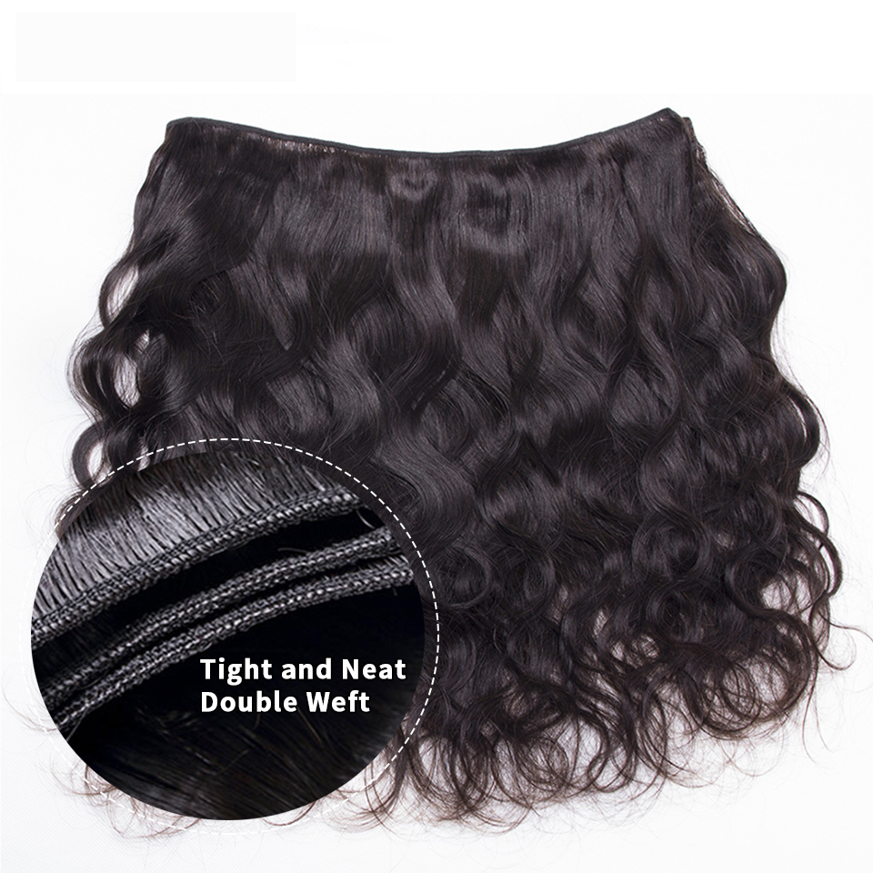 body wave bundles free ship for black women brazilian hair color extension 1 3 4 Bundles 30 inch virgin human hair bundles 6