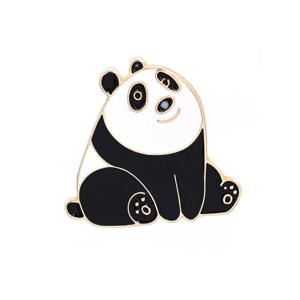 Sevimli yeni kişilik çinko alaşım broş Pin çin dev Panda Pin takı sırt çantası şapka kovboy giyim takı broş