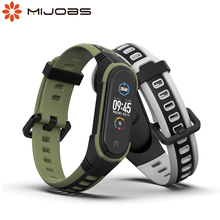 עבור Xiaomi Mi Band 5 רצועת Pulseira 3 4 יד צמיד סיליקון Opaska קוראת עבור Miband 5 Xiomi Xaomi Wristbands אבזרים