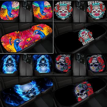 Poduszki na siedzenia samochodowe trzyczęściowy zestaw szkielet paw 3D drukowanie nadaje się do większość samochodów pokrywa ochronna akcesoria tanie i dobre opinie Cztery pory roku Uciekają Tkaniny CN (pochodzenie) 5inch 50inch Pokrowce i podpory 0 65kg Podstawową Funkcją 30inch
