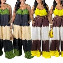 AYES Clothes For Women Sets Wide Leg Trousers Loose Matching Pants Set Patchwork Tracksuit Set Plus Size Suit Xl-4xl Vetement
