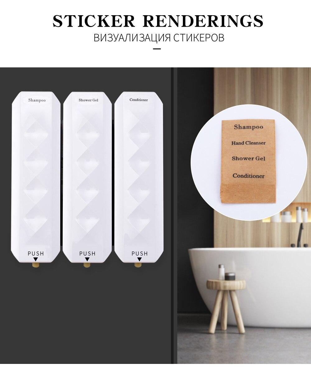 H16950dbed38b40d78db099e1e1122f729 Nail Free Wall Mounted Bathroom 350ML Soap Dispenser Mounted Shampoo Liquid Soap Bottle Bathroom Accessories