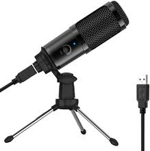 USB Microphone for Computer, Gaming Microphone with Tripod Stand, for Recording, Gaming, Streaming,Voice Over with Mac Laptop