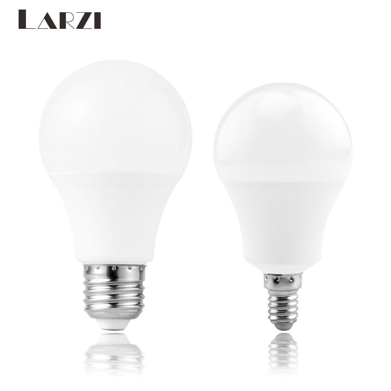 LARZI LED lamp E14 E27 LED bulb AC 220V 230V 240V 3W 6W 9W 12W 15W 18W 20W 24W Lampada LED Spotlight Table lamp Lamps light