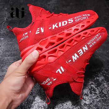 Kid adidasy do biegania jesień dzieci buty sportowe Tenis Infantil chłopiec kosz obuwie lekka oddychająca dziewczyna Chaussure Enfant tanie i dobre opinie Aijiatiny Pasuje mniejszy niż zwykle proszę sprawdzić ten sklep jest dobór informacji 10 t 11 t 12 t 13 t 14 t 14 T