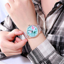 New Silicone Candy Color Student Watch Girls Clock Fashion Flamingo Watches Children Wristwatch Cartoon Kids Quartz Watch(China)