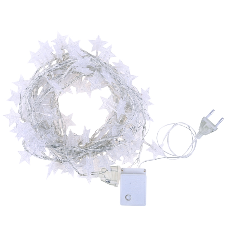 Eu Plug 8.5M Led Star Fairy Garland String Lights Novelty For New Year Christmas Wedding Home Indoor Decoration Battery Powered|Lighting Strings| |  - title=
