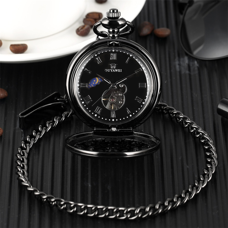 Antique Hollow Spider Web Pendant Clock Hand Winding Mechanical Pocket Watch Roman Numerals Display Pocket Hanging Chain Watches