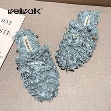 Меховые тапочки женская зимняя обувь плюшевые домашние Лоферы
