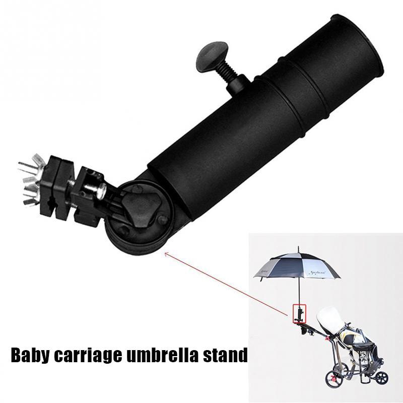Newly Plastic Universal Golf Cart Umbrella Holder Stand For Buggy Cart Baby Pram Wheelchair Umbrella Holder Adjustable Umbrella
