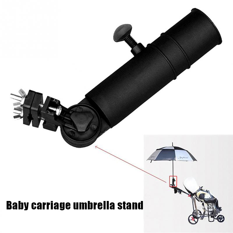 Newly Plastic Universal <font><b>Golf</b></font> Cart <font><b>Umbrella</b></font> Holder <font><b>Stand</b></font> for Buggy Cart Baby Pram Wheelchair <font><b>Umbrella</b></font> holder Adjustable <font><b>Umbrella</b></font> image
