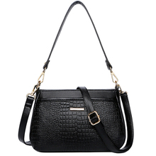 High Quality Women Handbags Genuine Leather Waterproof Alligator Pattern Decoration Tote Women Shoulder Messenger Bags Small Ladies Bag Crossbody Bags For Women 2019 цена