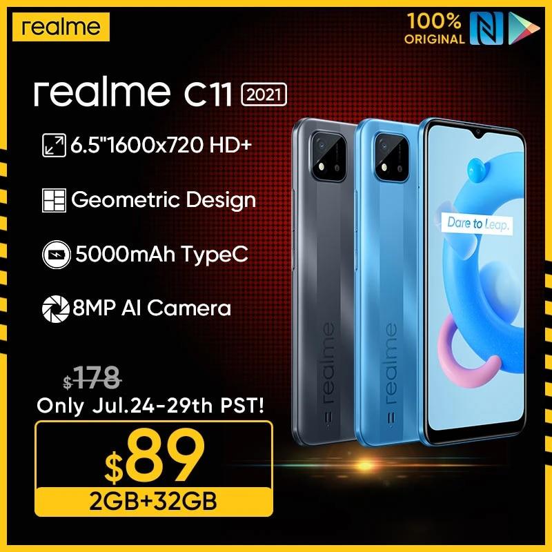 "Russian Version realme C11 2021 2GB RAM 32GB ROM 6.5"" HD+ Large Display 5000mAh Long-Lasting Battery Support NFC Network"