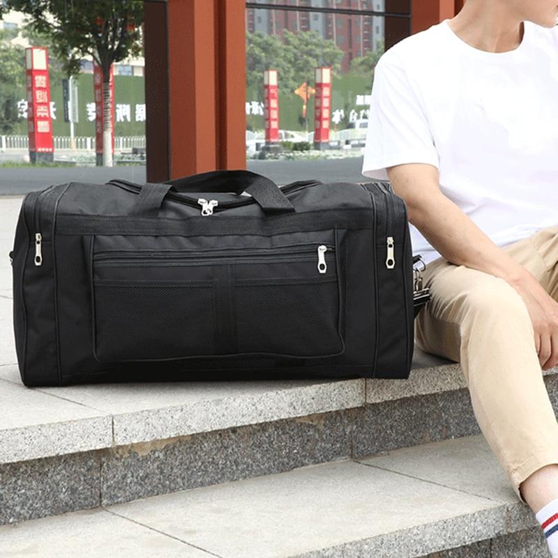 Women Travel Bag Black Multifunctional Bag Yoga Fitness Clothes Luggage Men Large Capacity Handbag Gift