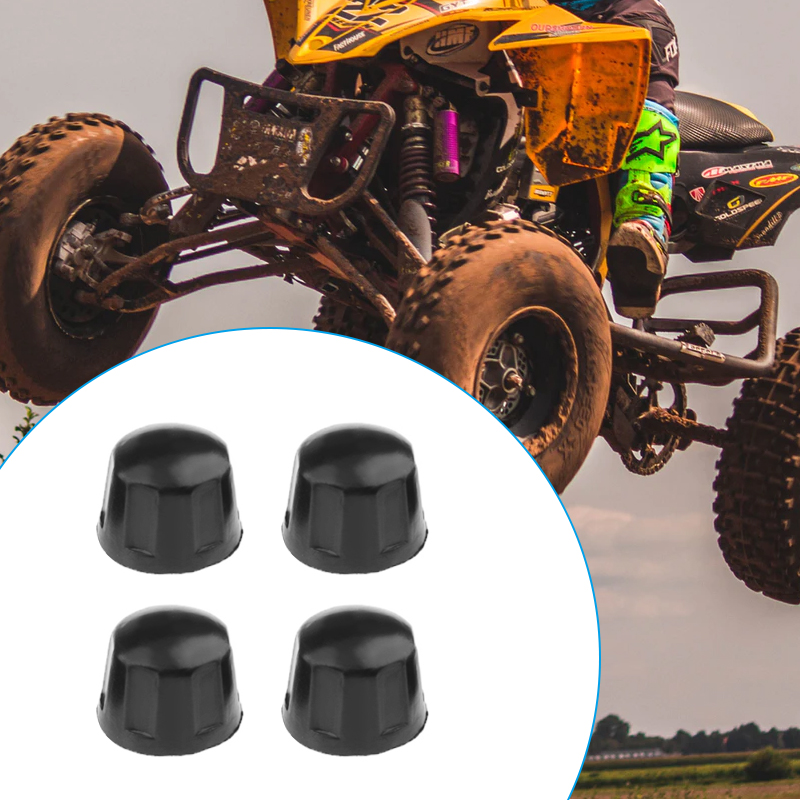 4 Pcs Rubber Dust Nuts Covers Dust Protector Dust Guard For 50cc 70cc 110cc 125cc Quad Bike ATV Pit Dirt Bike UTV Motorcycle Etc