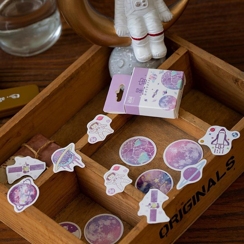 50pcs/pack Cute Flower Unicorn Posters Mini Paper Sticker Decoration Diary Scrapbooking Label Sticker Stationery 3