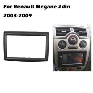 Image 1 - 2 דין מתאם CD Trim פנל סטריאו ממשק רדיו רכב מסגרת פנל Fascia עבור רנו מגאן II 2003 2009 2Din