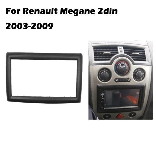 2 דין מתאם CD Trim פנל סטריאו ממשק רדיו רכב מסגרת פנל Fascia עבור רנו מגאן II 2003 2009 2Din