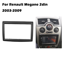 2 DIN Adapter CD Trim Panel Stereo Interface Radio Car Frame Panel Fascia for RENAULT Megane II 2003 2009 2Din