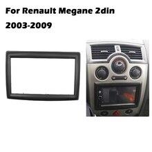Painel adaptador de cd, interface estéreo, painel de moldura de rádio de carro, fascia para renault megane ii 2003 2009 2din din din 2 din