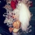 Голографический горящий человек блестящая повязка на голову головной убор украшения для головы Rave сценические танцевальные Dj Singer одежда ш...