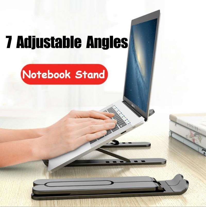 Регулируемая Складная подставка для ноутбука Нескользящая настольная подставка для ноутбука Подставка для ноутбука Macbook Pro Air iPad Pro DELL HP|Подставка для ноутбука|   | АлиЭкспресс - Товары для домашнего офиса