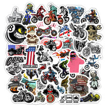 50Pcs Motorcycle Motocross Cartoon Stickers For Suitcase Skateboard Laptop Luggage Fridge Phone Car Styling Decal Sticker F5(China)