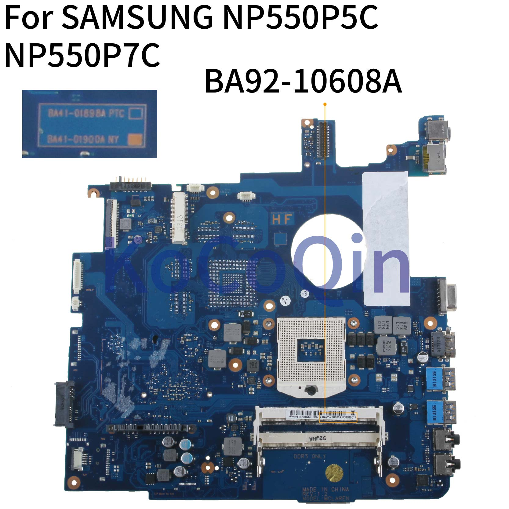 KoCoQin Laptop motherboard For SAMSUNG NP550P5C 550P5 NP550P7C Mainboard BA41-01898A BA92-10608A SLJ8E image
