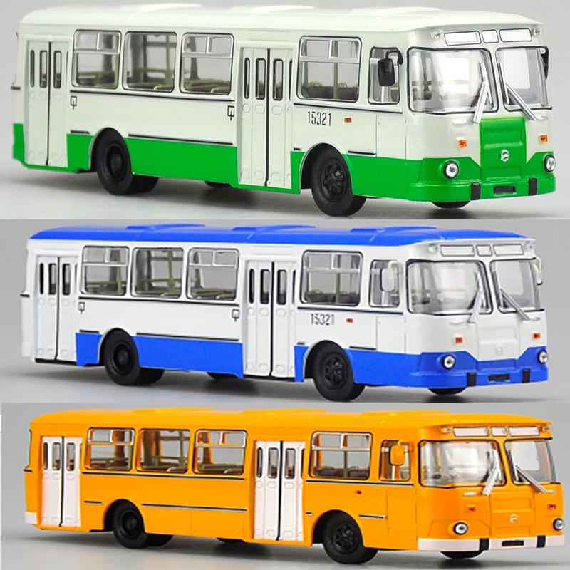 1/43 échelle Bus russe en alliage de métal Tram Bus modèle moulé sous pression voiture enfant modèle jouet enfants véhicule trafic outils Collection de cadeaux