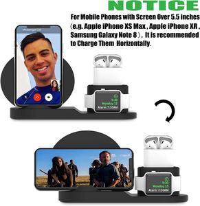 Image 4 - Draadloze Oplader Stand Voor Iphone Airpods Apple Horloge, charge Dock Station Charger Voor Apple Horloge Serie 5/4/3/2 Iphone 12 11 X