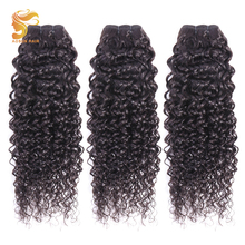 AOSUN HAIR Malaysian Hair Bundles Italian Curly Wave 100% Human Extensions 3pc/lot Remy Natrual Color 8-28inches