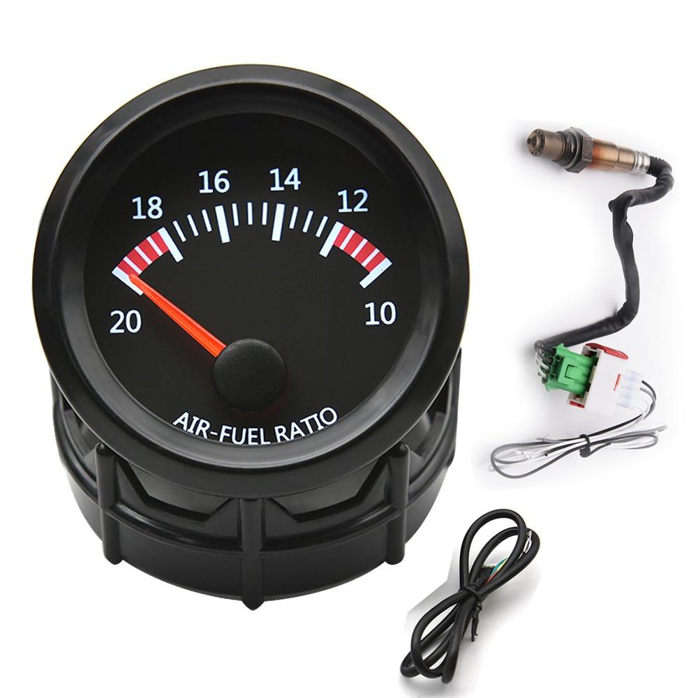 Car 52MM Air Fuel Ratio Gauge 12V Racing Air Fuel Meter Indicator with Narrow O2 Oxygen Sensor 0258006028 52MM Gauge Pod CUp