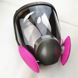 Image 3 - SJL 6800 Gas Mask  Anti dust 7pcs suit Full Face Facepiece Respirator  same 3M 6800 gas mask