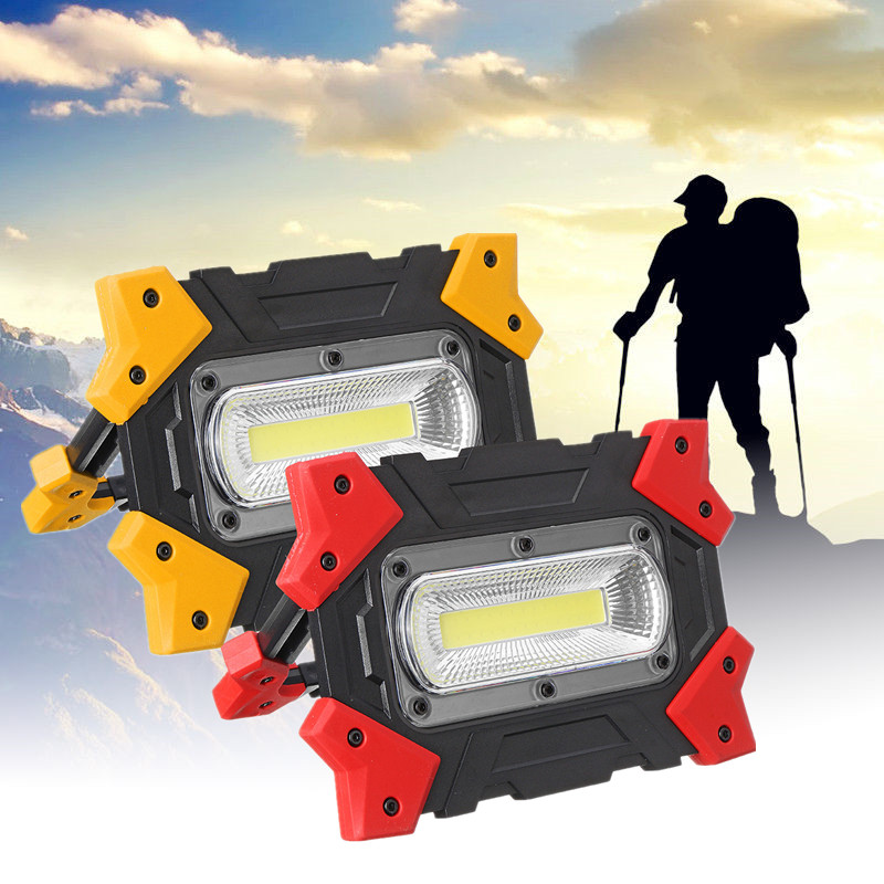Portable Emergency Light Spotlight Led Work Light Rechargeable USB&Battery Outdoor Lights For Hunting Camping Latern Flashlight