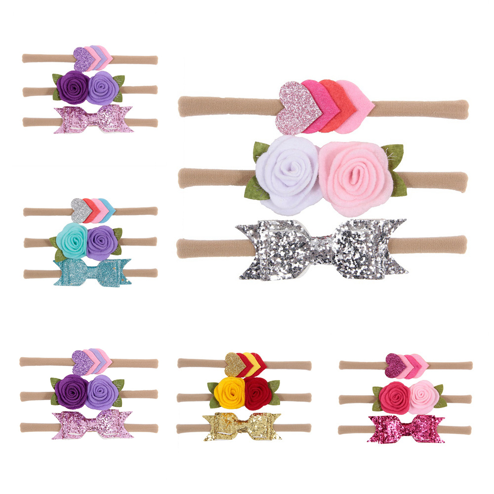 Baby Nylon Headband Bowknot Flower Hair Bands For Children Girls Elastic Headwrap Hair Accessories Children Headband