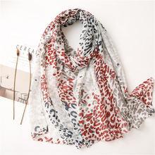 Женский Длинный шарф из хлопка и льна длинный марлевый декоративный