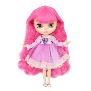 Image 2 - ICY factory Blyth doll Joint body with hands Glossy face with big breast different hair color Natural skin 30cm 1/6 toy gift