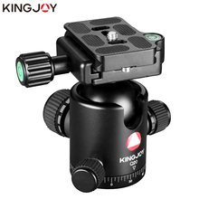 """Buy KINGJOY Official Q20 Tripod Head Ball Head Rotating Panoramic BallHead with plate 1/4"""" to 3/8"""" Screw for Monopod DSLR Camera directly from merchant!"""