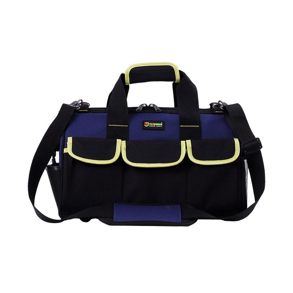 14/16/20 Inch Large Capacity Tool Bag Waterproof Electrician Bag Plastic Bottom Men's Oblique Bag Tool Handbag