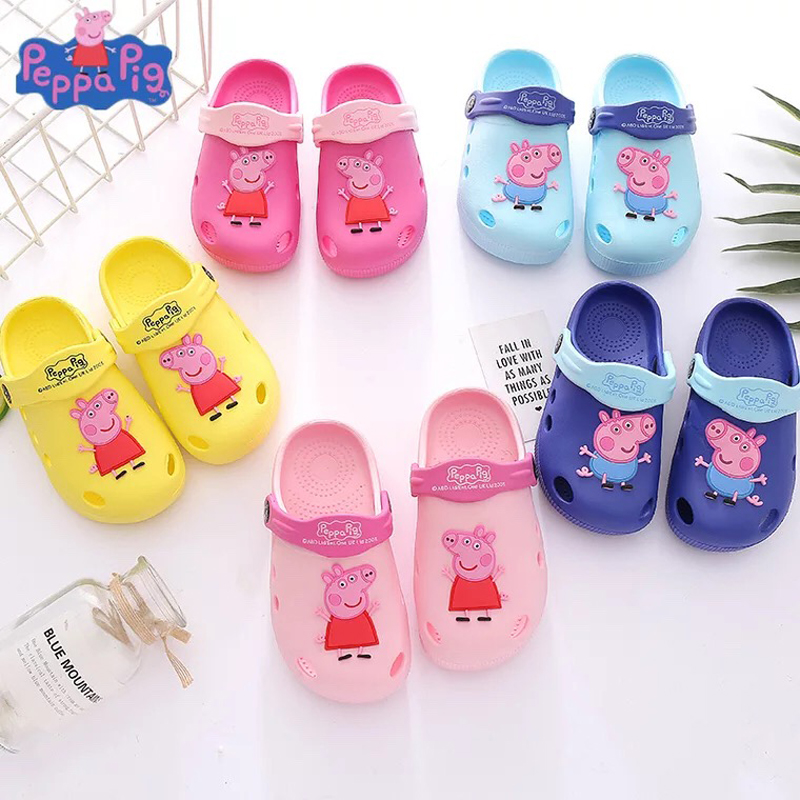 2020 Genuine Peppa Pig George Children Shoes Baby Slippers Summer Cartoon Indoor Anti-skid Boys Girls Chase Skye Plush Doll Toy